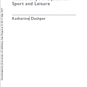 Human–Animal Relationships in Equestrian Sport and Leisure-3