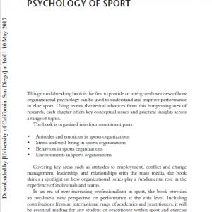The Organizational Psychology Of Sport-1